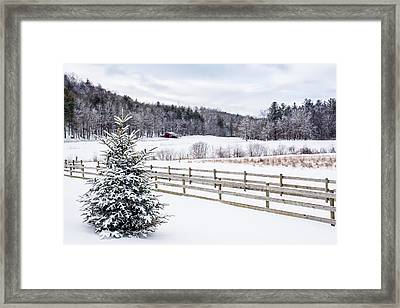 Winter Morn On The Farm Framed Print by Rob Travis