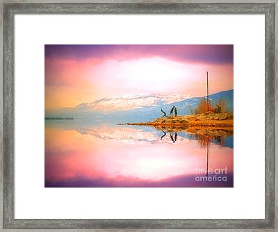 Winter Morning At Okanagan Lake Framed Print by Tara Turner