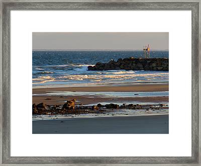 Winter Morning At Sesuit Harbor Framed Print by Dianne Cowen