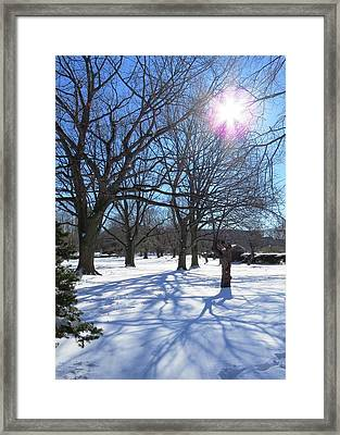 Winter Morning Boston Back Bay  Framed Print