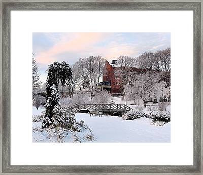 Winter Morning Color Framed Print by Janice Drew
