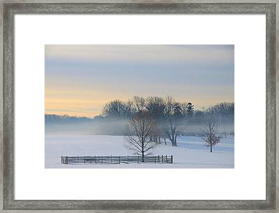 Winter Morning Fog Framed Print