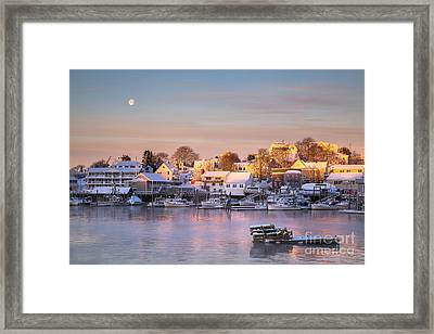 Winter Morning In Boothbay Harbor Framed Print by Benjamin Williamson