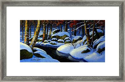 Winter Morning Light Framed Print by Frank Wilson