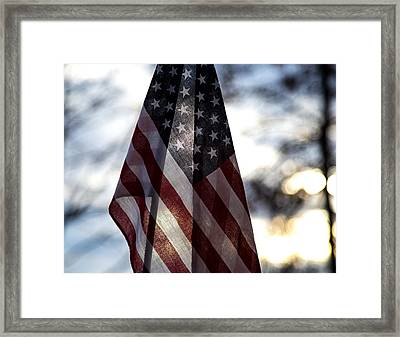 Winter Morning Patriotism Framed Print