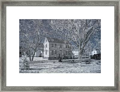 Winter Morning - Strawbery Banke - Portsmouth Nh Framed Print