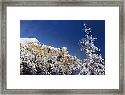 Winter Mountain Landscape Framed Print by Ioan Panaite