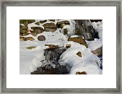Winter Mountain Stream Framed Print