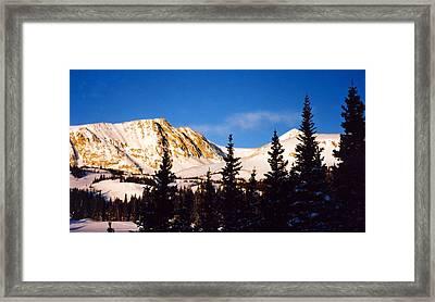 Winter Mountain Framed Print