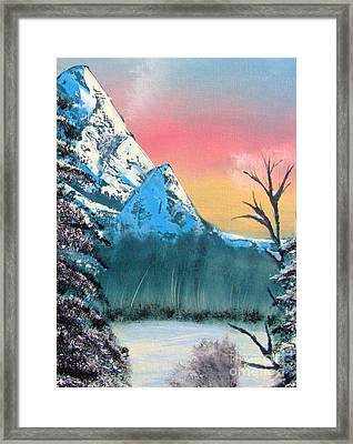 Winter Mountain Twilight Framed Print