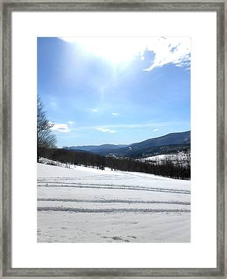 Winter Mountain Views Of Vly And Hunter Framed Print by Patricia Keller