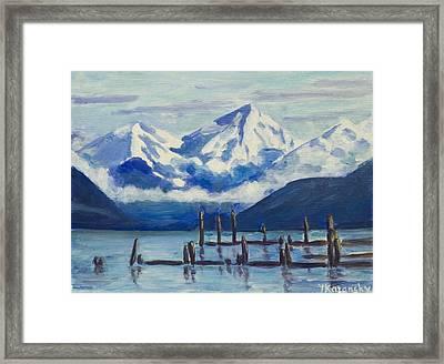 Winter Mountains Alaska Framed Print