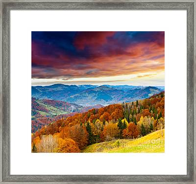 Framed Print featuring the photograph Winter Mountains Landscape by Boon Mee