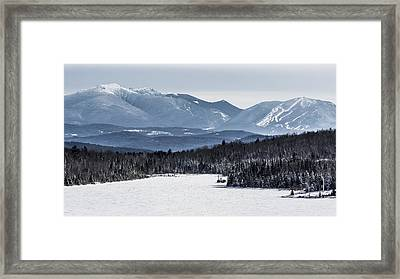 Winter Mountains Framed Print by Tim Kirchoff
