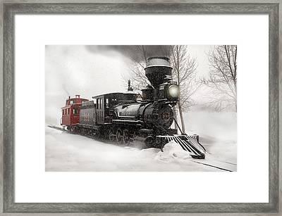 Winter Narrow Gauge Steam Framed Print by Ken Smith