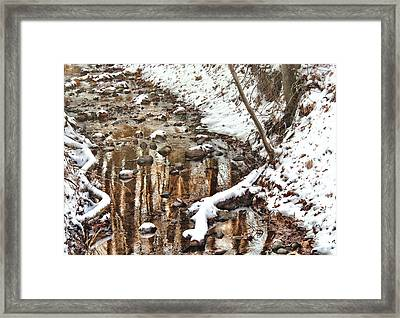 Winter - Natures Harmony Framed Print by Mike Savad