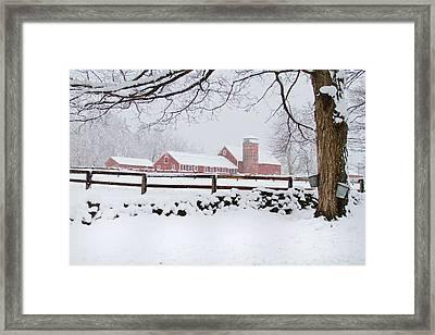 Winter New England Farm Framed Print