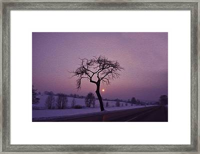 Winter Night Framed Print by Aged Pixel