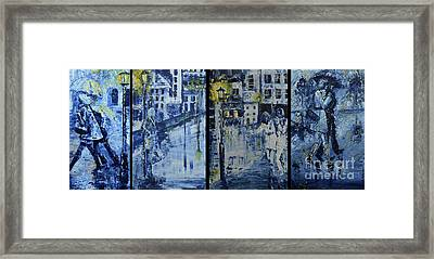 Winter Night In The City Framed Print by Roni Ruth Palmer