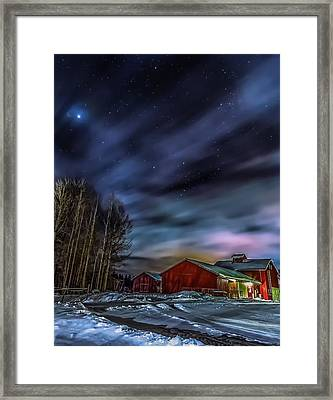 Framed Print featuring the photograph Winter Night by Rose-Maries Picturtes