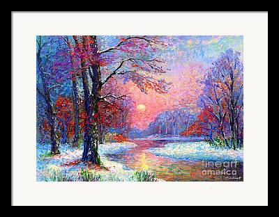 Maine Winter Framed Prints