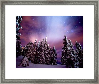 Winter Nights Framed Print