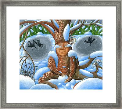 Winter. Nook Framed Print