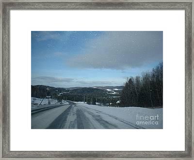 Winter Norhtern Maine Framed Print by Kristine Bailey