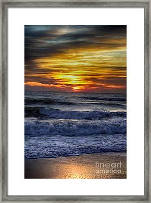 Winter North Carolina Sunrise Framed Print by Tony Cooper