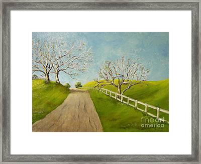 Winter Oaks Framed Print