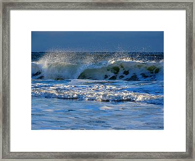 Winter Ocean At Nauset Light Beach Framed Print