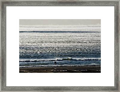 Winter Ocean Rockaway Beach Framed Print