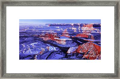 Winter Of Dead Horse Point Framed Print