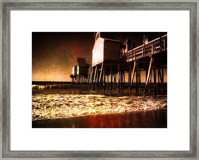 Winter Old Orchard Beach Framed Print by Bob Orsillo