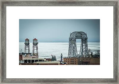 Winter On Duluth Landmarks Framed Print by Paul Freidlund