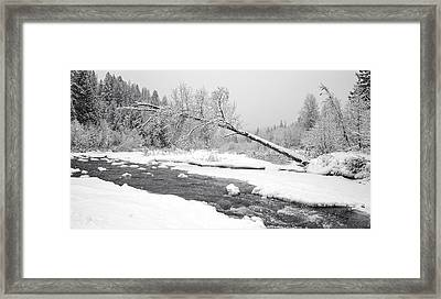 Winter On Grouse Creek Framed Print by Randolph Fritz