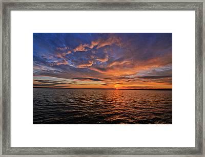 Winter On Lake Houston Framed Print