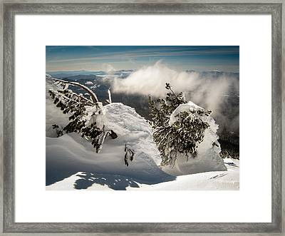 Winter On Mt. Bachelor Framed Print by Helix Games Photography