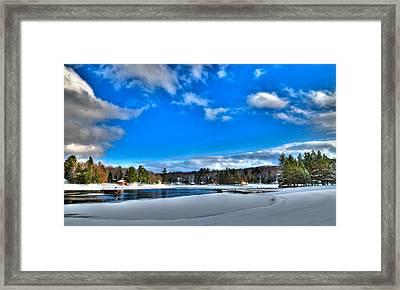 Winter On Old Forge Pond Framed Print