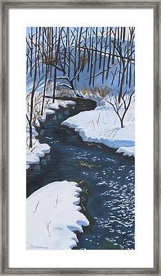Winter On Penns Creek Framed Print