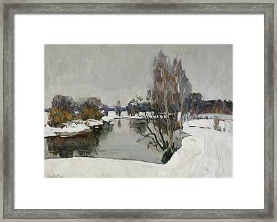 Winter On River Kliazma Framed Print