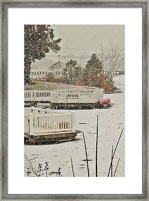 Winter On Silver Lake - Rehoboth Delaware Framed Print