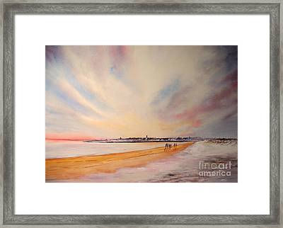 Framed Print featuring the painting Winter On St Andrews Scotland by Beatrice Cloake