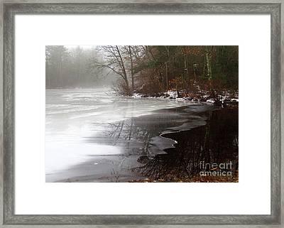 Winter On Tarklin Pond Framed Print