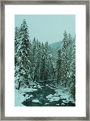 Winter On The American River Framed Print