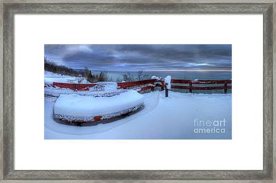 Winter On The Arcadia Overlook Framed Print by Twenty Two North Photography