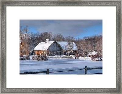 Framed Print featuring the photograph Winter On The Farm 14586 by Guy Whiteley