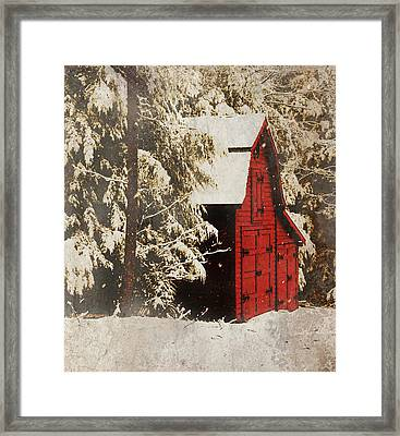 Winter On The Farm Framed Print