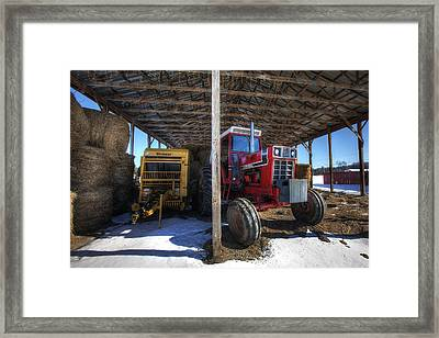 Winter On The Farm Framed Print by Eric Gendron