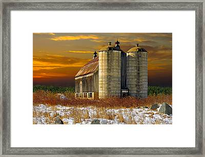 Framed Print featuring the photograph Winter On The Farm by Judy  Johnson